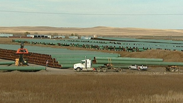 Wonder if they'll move the pipe-yard now since they are moving the line east?
