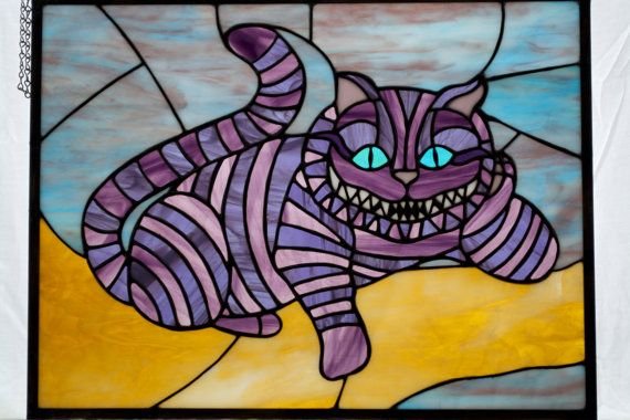 Alice in Wonderland's Purple Cheshire Cat by StainedReputation - Living room - front door