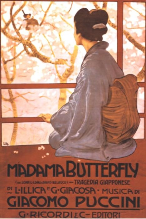 Poster for Puccini's Madama Butterfly