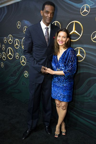 Former NBA Player Ralph Sampson and Patrice Ablack attend the Mercedez-Benz USA's Official Awards Viewing Party at Four Seasons Hotel Los Angeles at Beverly Hills on March 4, 2018 in Los Angeles, California.