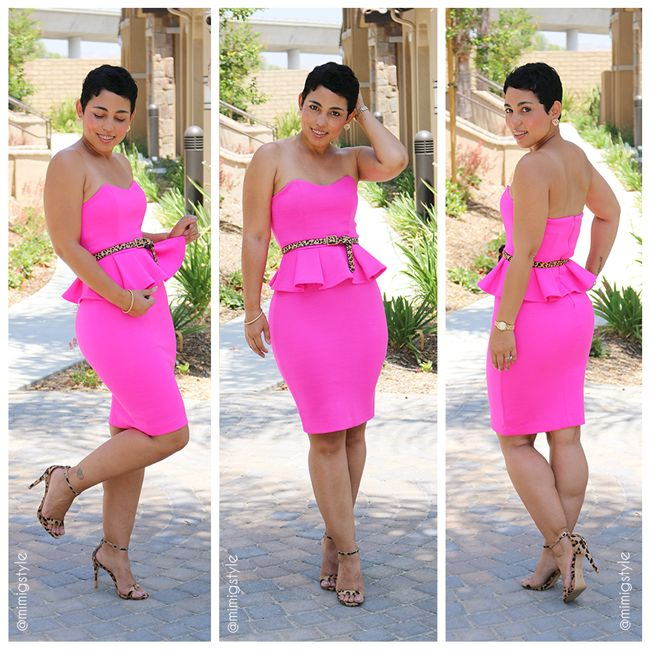 #DIY Neon Pink Dress + Pattern Review