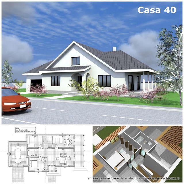 Birou arhitectura - Arhidesign-Sibiu: Casa parter si mansarda Model - 40