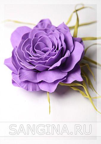 """Мастер-класс """"Фиолетовый цветок из фоамирана"""""""