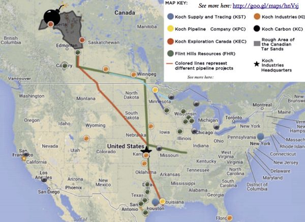 New Report Reveals Koch Brothers Could Make $100B Profit if Keystone XL Pipeline is Built