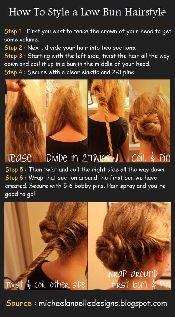 Twisted Low Bun Hair Tutorial