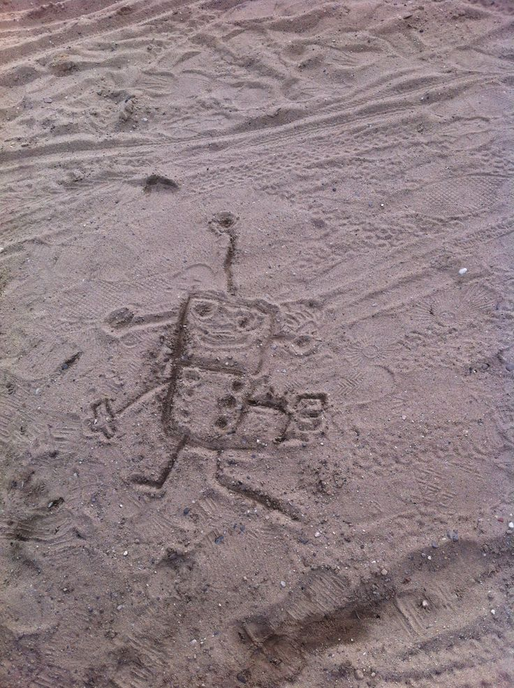 Robot drawing by my 5 year old kido