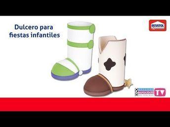 MANUALIDADES DULCERO de TOY STORY *SOMBRERO VAQUERO de WOODY y JESSIE* - YouTube