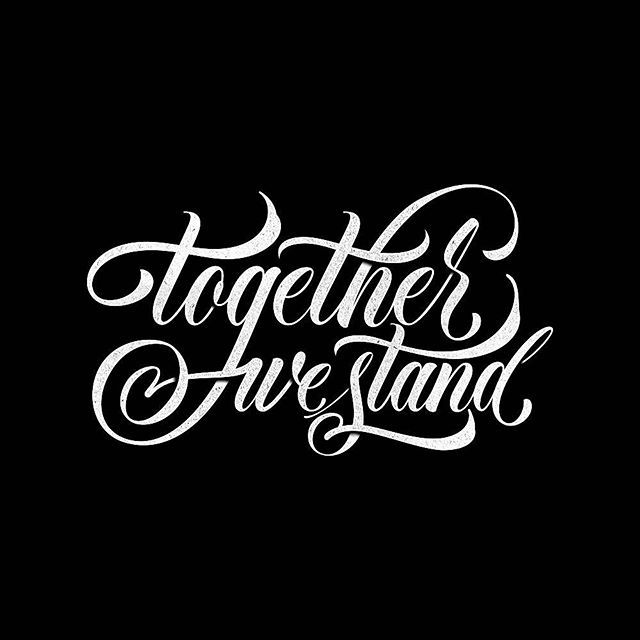 Tattoo design #handlettering #lettering #type #typography #brushpen #together
