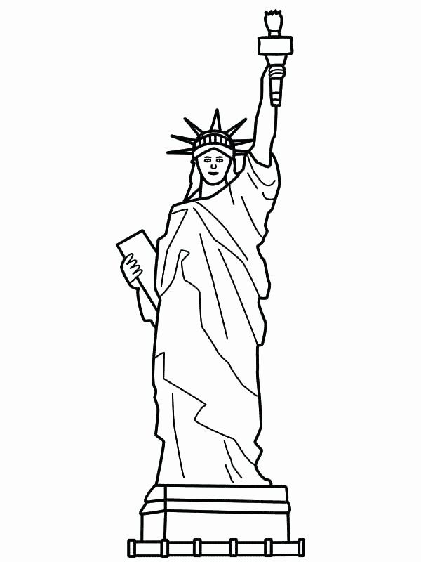 Statue Of Liberty Coloring Page New Statue Liberty Drawing Step By Step At Getdrawings Di 2020