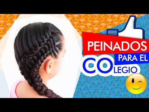 (13) ✔️Peinados recogidos ✔️Doble trenza lateral en puente Collected hairstyles - YouTube