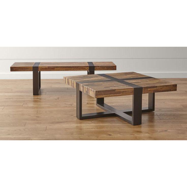 Lakin Recycled Teak Coffee Table: Seguro Rectangular Coffee Table