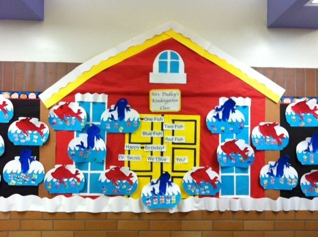 """One Fish Two Fish Red Fish Blue Fish"" Bulletin Board"