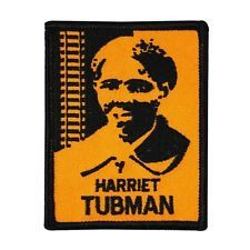 "Freedom Fighter ""Harriet Tubman"" Iron-On Patch African-American Legend Applique"
