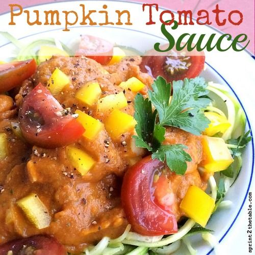 Pumpkin Tomato Sauce Recipe --> Why pay $10 at Whole foods for fancy sauce when you can make it yourself? | Sprint 2 the Table