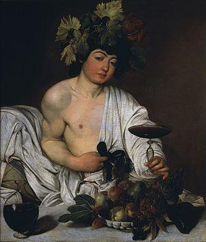 Baco (Caravaggio) – Wikipédia, a enciclopédia livre