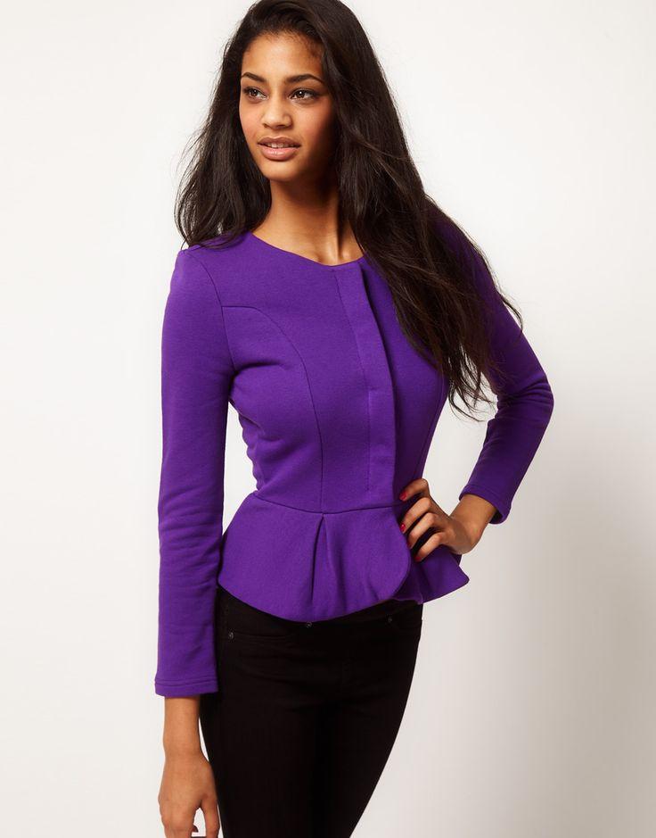 purple peplum: Fashion, Peplum Jacket, Style, Purple Asos, Frill Jacket, Enlarge Asos, Jackets, Asos Peplum, Purple Peplum