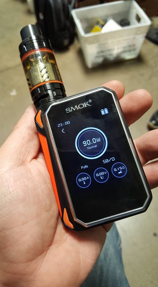 G-Priv Kit comes with G-Priv Mod and TFV8 Big Baby Atomizer. Together they offer great flavor and huge vapor cloud. G-Priv Kit has very big TFT display and touch screen for more convenient using. It can fire up to 220W power and 5ml juice capacity can support long time vaping. #Vape #Vaping #Cacuqecig #Gpriv #Mod #Ecigs #Mod