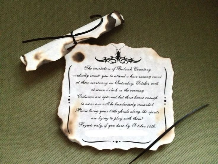 Best Halloween Invites Images On Pinterest Happy Halloween - Creative diy birthday invitations in a box