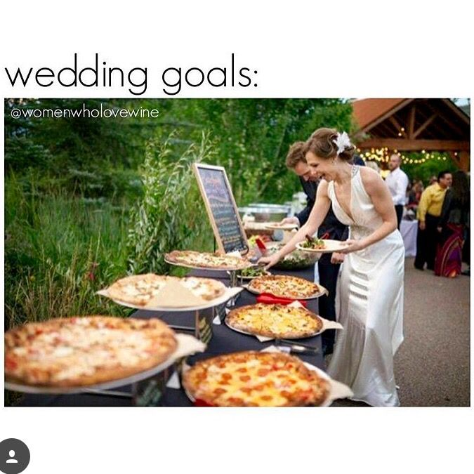 Wedding Goals - Pizza Buffet
