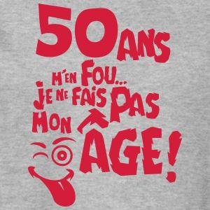 50 ans fais pas mon age anniversaire Sweat-shirts - Sweat-shirt Homme