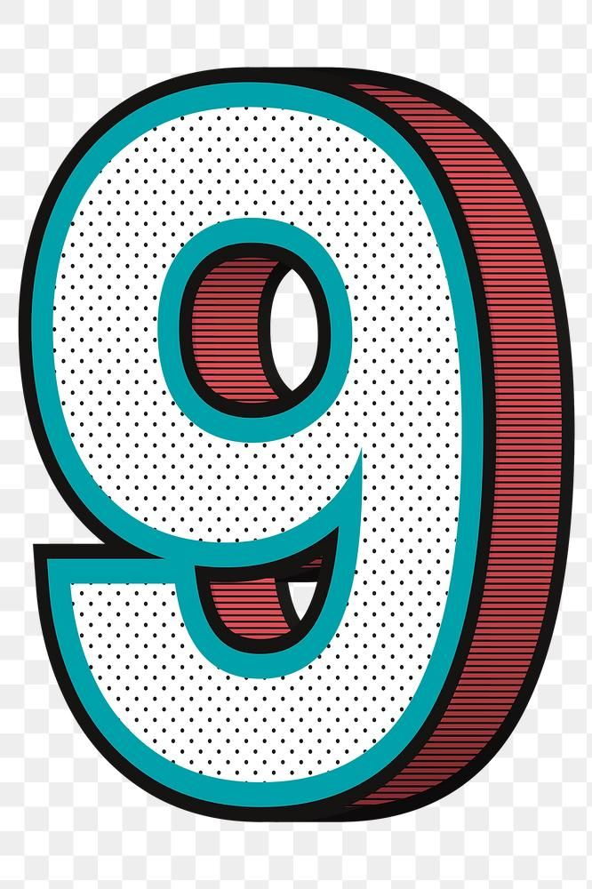 Number 9 Png Isometric Halftone Effect Typography Free Image By Rawpixel Com Wan In 2020 Typography Halftone Isometric