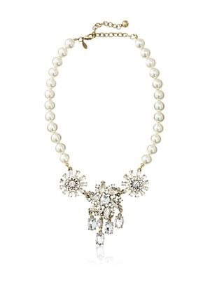 58% OFF Leslie Danzis Lola Crystal and Pearl Necklace