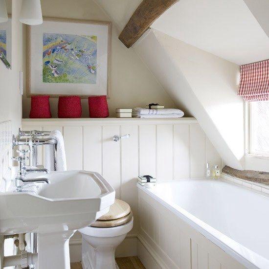 Photo Image  Fantastic Attic Bathroom Design Ideas Fantastic Attic Bathroom Design Ideas With White Vanity And Water Closet And Bathtub Design