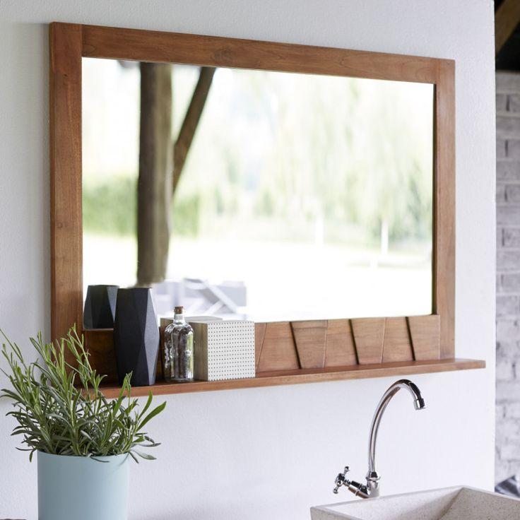 Untitled Teak Mirror Bathroom Mirror With Shelf Teak Interior Design