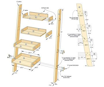 How to Build a Ladder Bookcase - Bookcase Projects - Built-ins, Shelves & Bookcases. DIY Advice