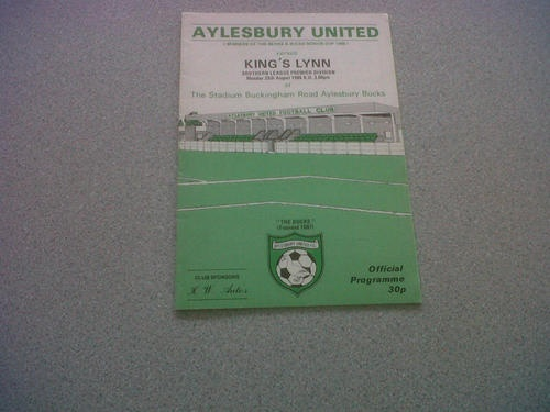 Away to Aylesbury Utd  25th Aug 1986  Southern League