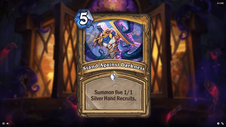 A New Paladin card from Whispers of the Old Gods! http://hearthstonehungary.hu/node/uj-kartya-stand-against-darkness