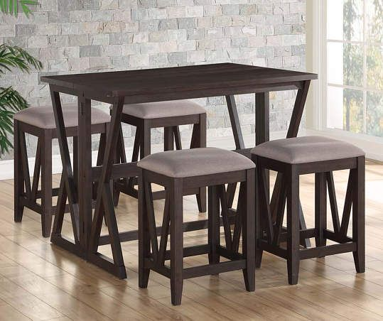 Espresso Brown Folding Dining Table Dining Room Small Folding