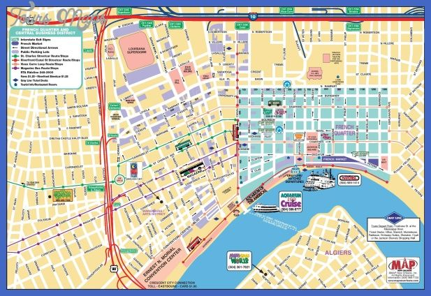 awesome New Orleans Map Tourist Attractions