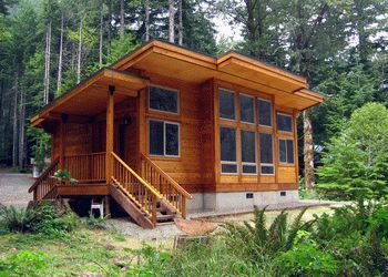 Pan abode cedar cabin kit cottage building ideas for Cabin kits california