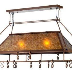 Meyda Simple Mission Rustic Pot Rack #rustickitchen #potrack