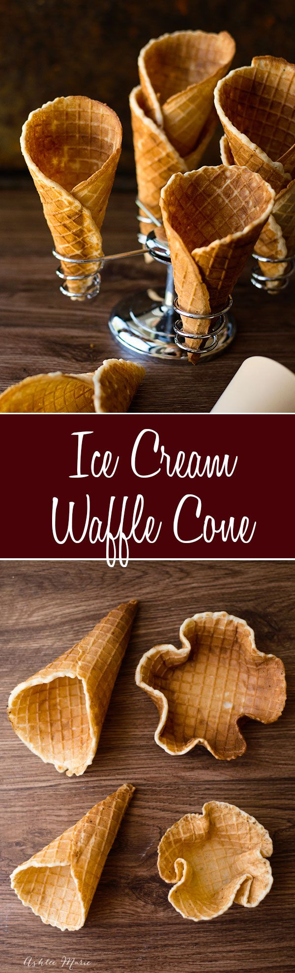 homemade waffle cones are super easy to make, and they taste amazing.  Always a huge hit with everyone, make different sized cones or bowls