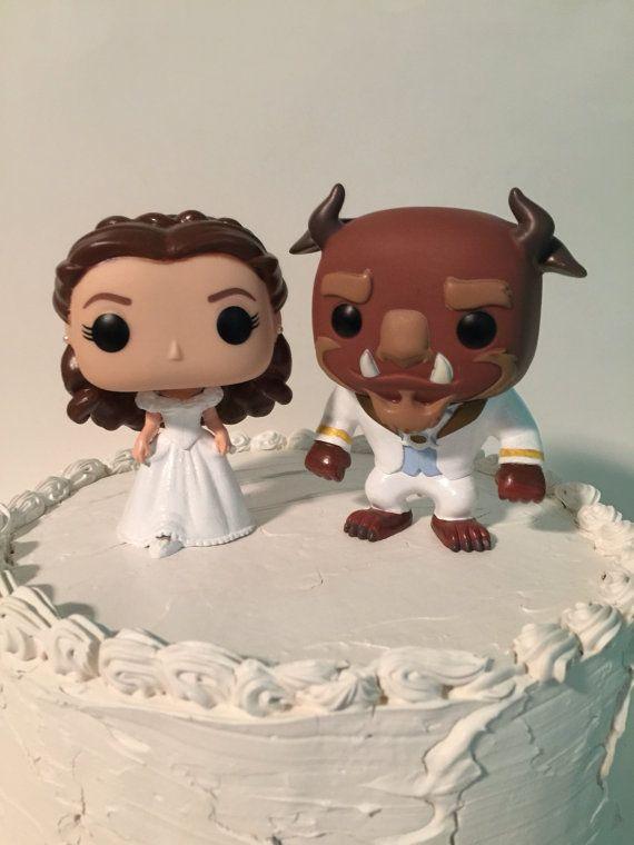 Medida Funko Pop belleza y la bestia pastel de bodas Topper