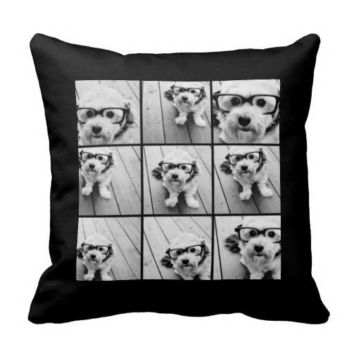 Instagram Photo Collage with 9 square photos Throw Pillows
