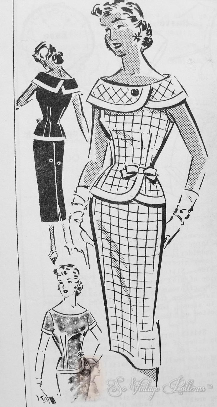 Patt-O-Rama Mail Order 1334 blouse & skirt