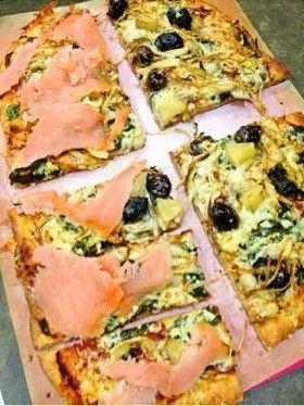 混ぜるだけ♡全粒粉のピザ生地