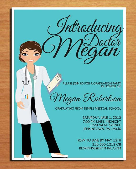 Doctor / Medical Degree Graduation Party Invitation Cards ...