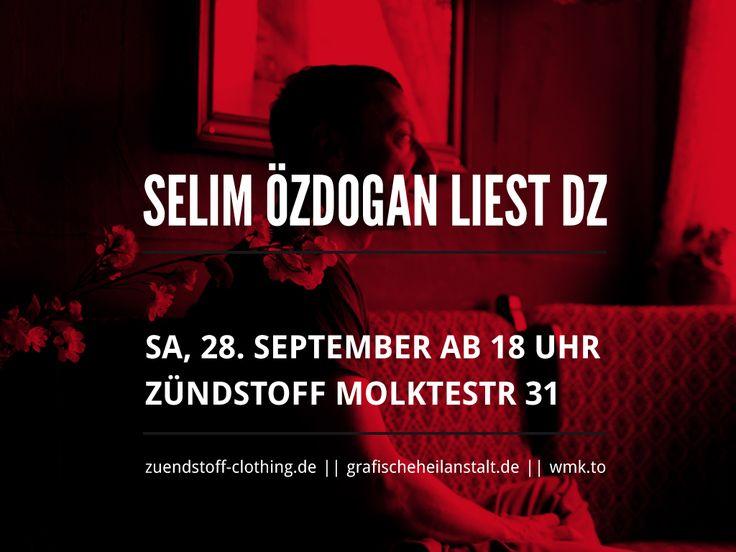 Lesung mit Selim Özdogan am 28.9.