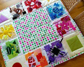 Fabric baby cube Busy block Quiet book Rainbow Geometric by ViktoriyaDesvarreux | Etsy