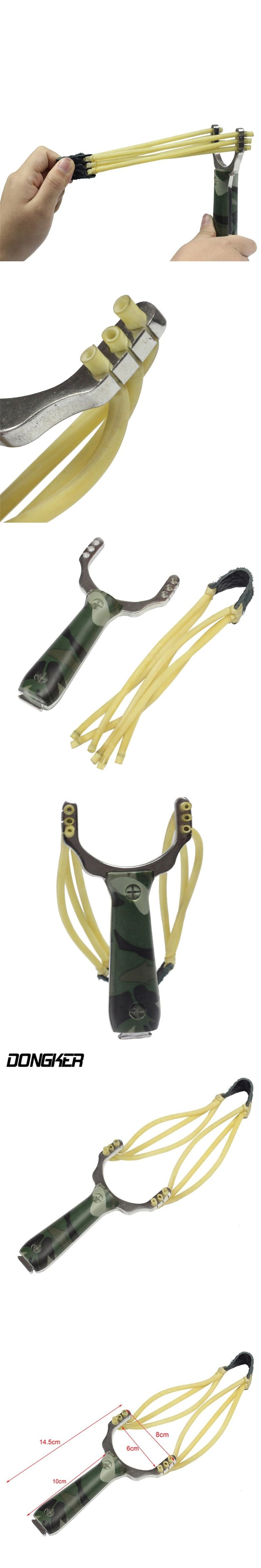Outdoor Hunting Camouflage Slingshot Tactical Shooting Accessory Elastic Natural Latex Rubber Band Powerful Portable Catapult