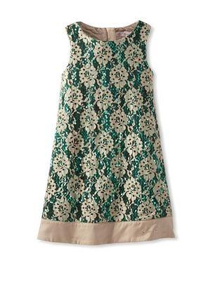 61% OFF Blumarine Girl's Lace & Sequins Dress (Beige)