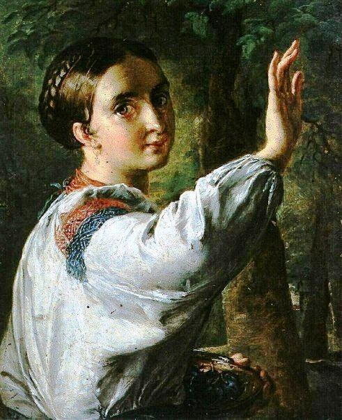 Тропинин В. Девушка-украинка, собирающая сливы. 1820