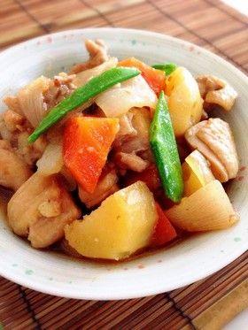 ヨシダソースで♪鶏肉とじゃがいもの煮物