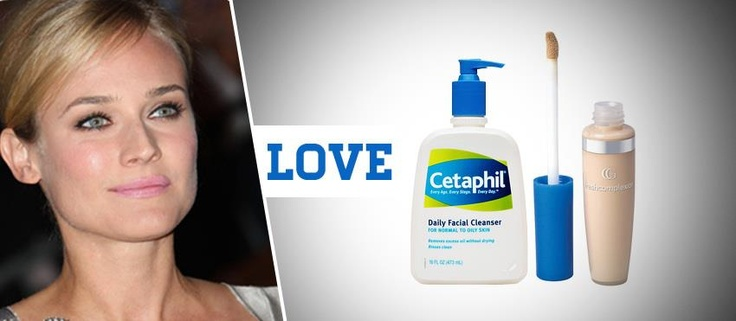 Diane Kruger's beauty essentials include Cetaphil US cleanser and CoverGirl concealer. What are some of your beauty essentials? Who loves the bb bundle of beauty essentials this month? Let us know!
