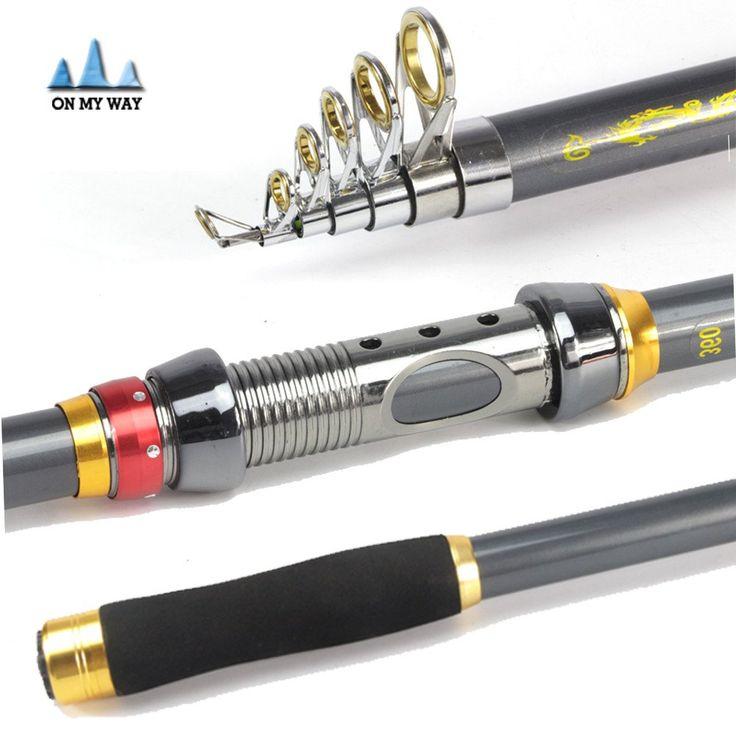 High Quality Portable Carbon Fiber Telescopic Fishing Rod http://bigdealhq.com/best-telescopic-fishing-rod