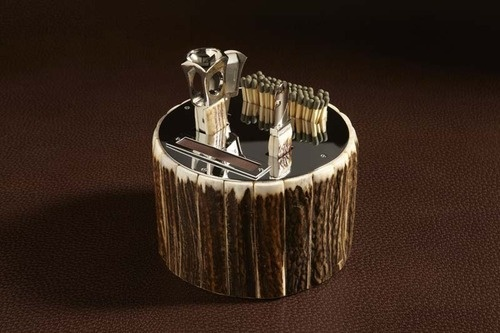#cigar set #stag antlers cigar set #cedes milano #luxury accesory #made in italy accessories #cigar accessories #gentleman #dandy accessory #finaest #finaest.com #finest